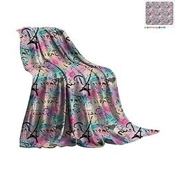 Paris Throw Blanket Complex French Elements on Floral Rose C