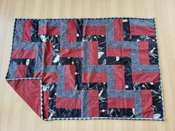 Patchwork Blanket - Baby Child Red Star Wars Quilt Throw Hom