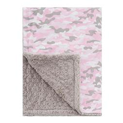 Baby Laundry Patterned Baby Blanket For Boys Girls - Pink &
