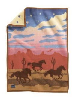 Pendleton Women's Muchacho Blanket Wild Horses One Size