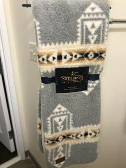 Pendleton Fleece Sherpa Aztec Southwest Throw Blanket 50 x 7
