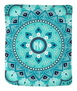 "Phi Mu Circle Pattern 50"" x 60"" Velveteen Soft Throw Blanket"