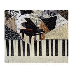 "CafePress Piano Soft Fleece Throw Blanket, 50""x60"" Stadium B"