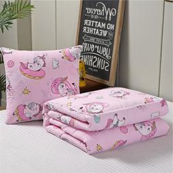 Pillow <font><b>Blanket</b></font> 2 in 1 cotton Warm Cartoo