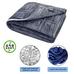 Pine & River Ultra Plush Weighted Blanket - | Minky Warm Lux