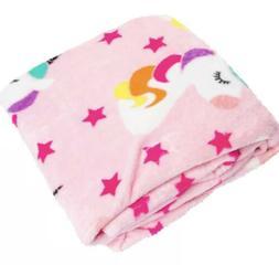Pink Unicorn Velvet Warm&Snuggly Fleece Throw Blanket! New!