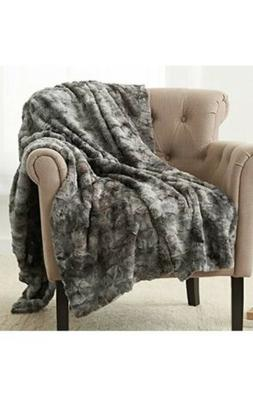 Pinzon Faux Fur Throw Blanket - 50 x 60 Inch, Frost Grey 50""
