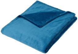 Pinzon Velvet Plush Blanket - Throw, Teal