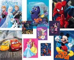 Disney Pixar Marvel & DC Kids Royal Plush Raschel Throw Blan