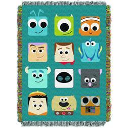 """pixar, pixarland woven tapestry throw, 48"""" x 60"""""""