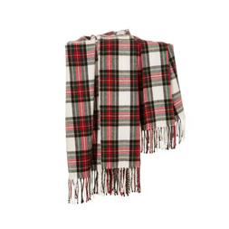 plaid woven fringe throw blanket sofa couch