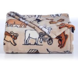 plush blanket throw large 5x6 ft dog