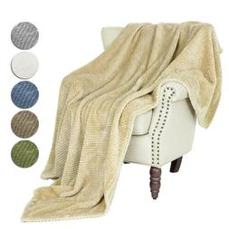 Plush Fuzzy Fleece Throw Blanket Soft Warm Faux Fur for Sofa
