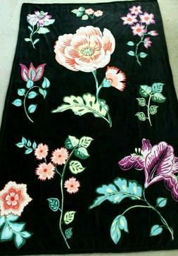 Vera Bradley Plush Throw Blanket, Fleece, Vines Floral