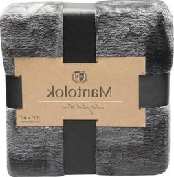 """Plush Velvet Throw Blanket by Mantolok 50"""" x 60"""""""