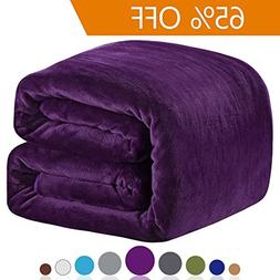 Richave Polar Fleece Blankets Queen Size for The Bed Extra S