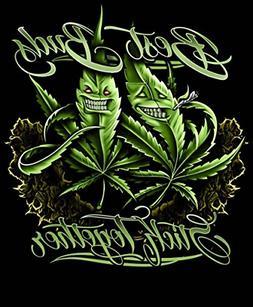 """Pot Leaf """"Best Buds"""" Regal Comfort Fleece Faux Mink Sherpa T"""