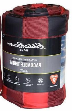 Eddie Bauer Primaloft Packable Down 60 x 70 inch Red & Black