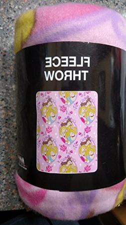 "Princess - Pink Rose 40""x50"" Lightweight Fleece Blanket Thro"
