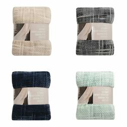 Life Comfort Printed Textured Blankets Throws 60 x 70 in.