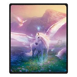 Qihua Printing Pegasus horse Blanket Velvet Plush Throw Blan