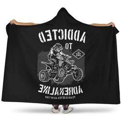 Quad Bike Hooded Blanket | ATV Four Wheel Motorbikes Bedding
