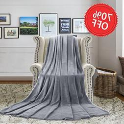 H.VERSAILTEX Weighted Blanket 330 GSM Luxury Travel Beach Bl