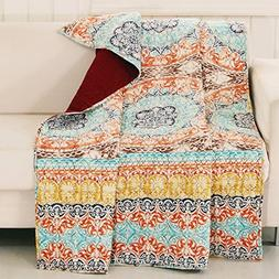 Finely Stitched Quilt Throw Lap Blanket Bohemian Boho Chic G