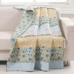 Quilt Throw Ruffled Vintage Farmhouse Petite Floral Prints G