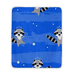 ALAZA Raccoon King Throw Blanket Soft Warm Bed Couch Blanket