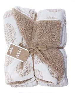 ReLive Reversible 50x60 Inch Soft Velvet Luxury Berber Throw