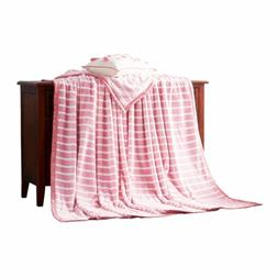 LIFEREVO Reversible Plush Flannel Fleece Bed Blanket Throw S