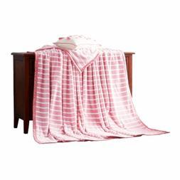 LIFEREVO Reversible Plush Flannel Fleece Bed Blanket Throw S