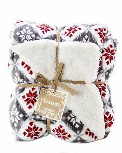 ReLive Reversible Velvet Luxury Berber Throw Blanket 50x60