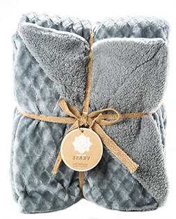 ReLive Reversible Velvet Luxury Berber Throw Blanket 50x60 S