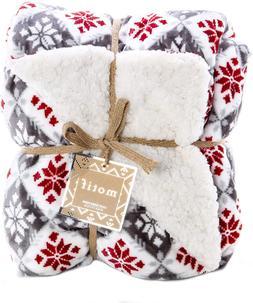 Reversible Velvet Luxury Berber Throw Blanket 50x60