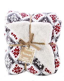 ReLive Reversible Velvet Luxury Berber Throw Blanket 50x60 M