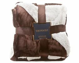 ReLive Reversible Velvet Luxury Berber Throw Blanket 50x60 D