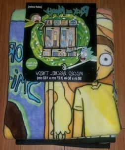 "Rick And Morty Action Figure Micro Raschel Throw Blanket 50"""