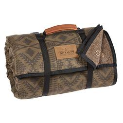 Pendleton Roll-Up Camp Wool Blanket with Weather Resistant B