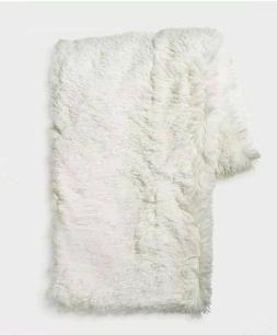 Room Essentials Target Ivory Shaggy Plush Throw Blanket 50 X