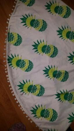 Round Fringe Pineapple Throw / Beach Blanket
