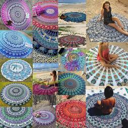 Round Mandala Indian Hippie Boho Tapestry Beach Picnic Throw