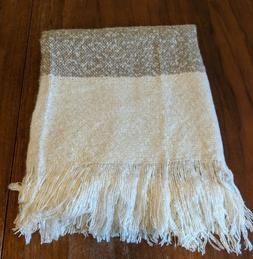 DII Rustic Farmhouse Acrylic Rugby Stripe Blanket Throw with