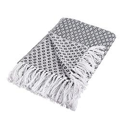 DII Black Mini Diamond Throw