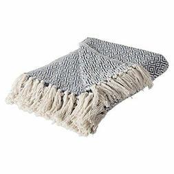 DII Rustic Farmhouse Cotton Diamond Blanket Throw