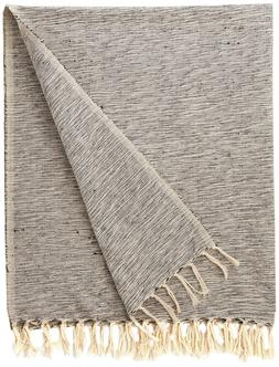 rustic farmhouse cotton variegated blanket