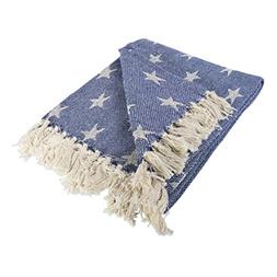 DII 4TH Of July Patriotic Throw Blanket with Decorative Tass