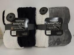 "Berkshire Blanket S/2 50"" x 70"" Reversible Sherpa Throws-Gra"