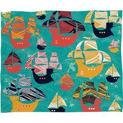 Deny Designs  Sam Osborne , Pirate Ships, Fleece Throw Blank
